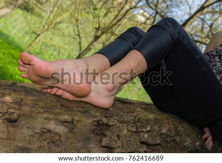 Young girl model feet