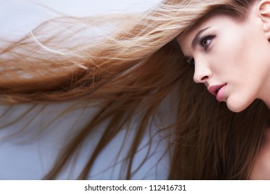 Young girl with beautiful hair