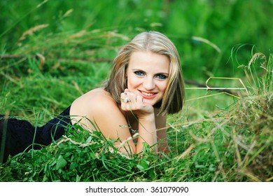 Young girl with casual wear in the garden