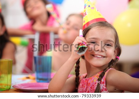 Nude young girls at birthday party theme