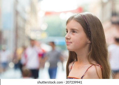 Young girl in the city