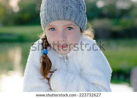 b06db3a78f195 Young Girl Cold Weather Wearing Warm Stock Photo (Edit Now ...