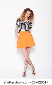 Orange Skirt Images, Stock Photos & Vectors | Shutterstock