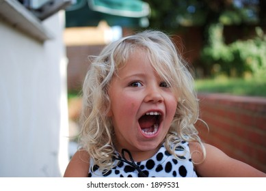 young girl with cute expression