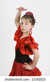 Young Girl dancing the Flamenco
