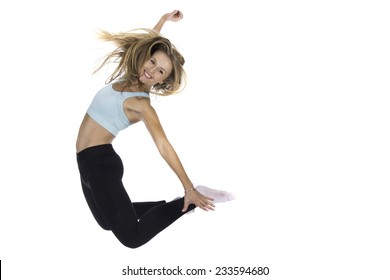 a young girl doing exercise