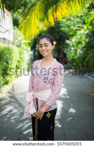 Young Girl Dressed Traditional Balinese Clothing Stock Photo Edit