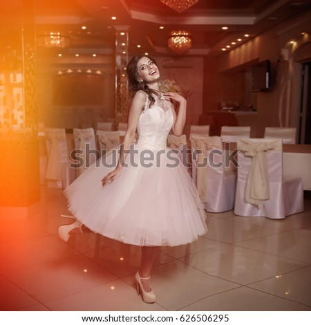 838b4704e Young Girl Evening Prom Dress Restaurant Stock Photo (Edit Now ...