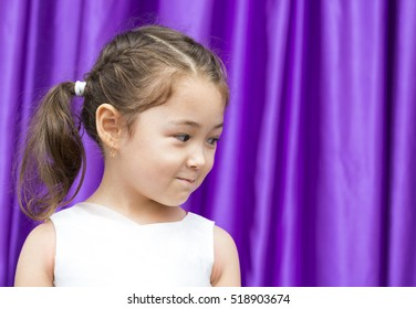 Young girl face model