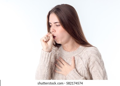 young girl fell ill and coughing