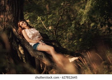 Young girl in the forest