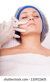 young girl getting Botox injection procedure