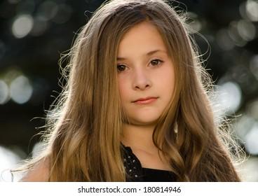 Young Girl Head Shot