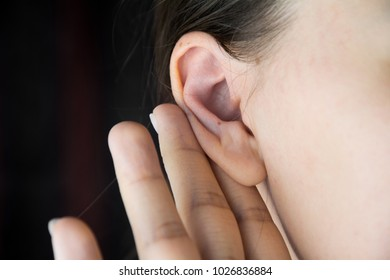 Young girl with hearing problems