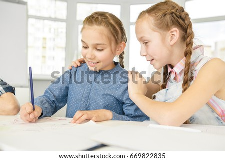girl with her friend