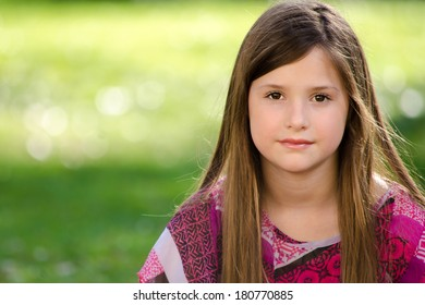 Young Girl Looking Into Camera