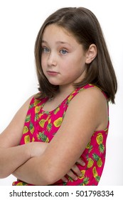Young girl looking sad and depressed.