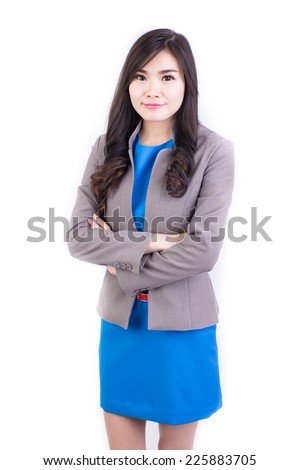 Young Girl Office Clothes On White Stock Photo Edit Now 225883705
