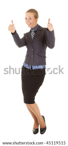 Young Girl Office Clothes On White Stock Photo Edit Now 45119515