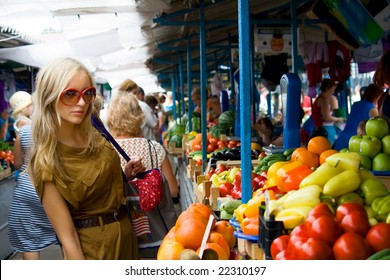 a young girl on the southern market