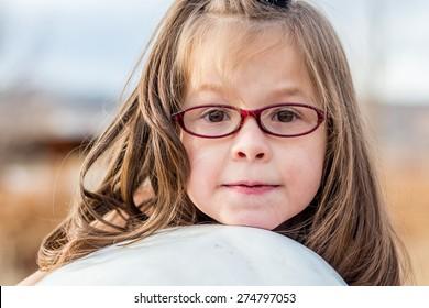 Young girl playing at a park in Reno, Nevada, USA.