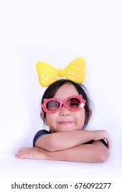 Young girl portrait wearing sun glasses