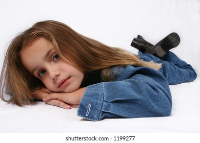 Young girl relaxing