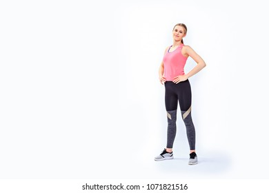 a young girl in sport dress by dancing aerobics or fitness exercise or zumba