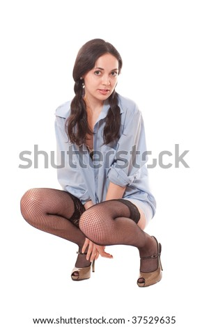 Are young girls in colors pantyhose commit