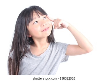 Young girl thinking