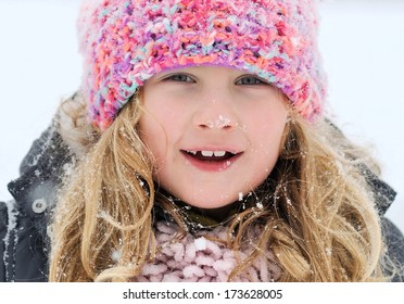 Young girl in a winter scene. MANY OTHER PHOTOS FROM THIS SERIES IN MY PORTFOLIO.