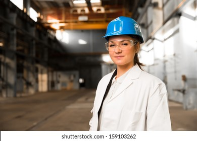 young girl worker in the factory