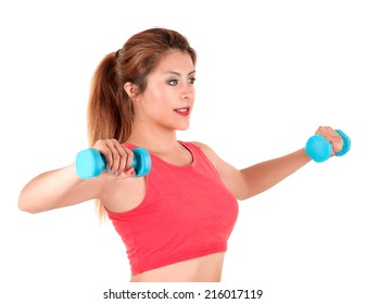 young girl working out