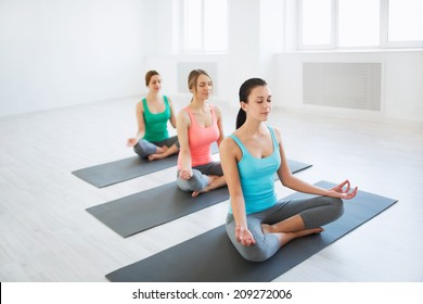 Young girl in yoga classes