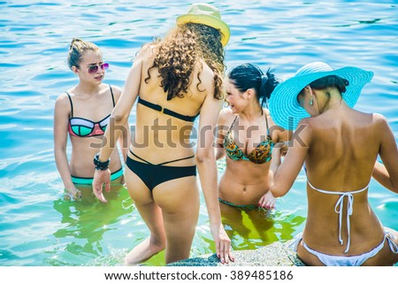 Accept. Group young teens in bikinis model nice message
