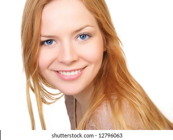 Young and good  looking  woman. Portrait of a beautiful friendly young woman