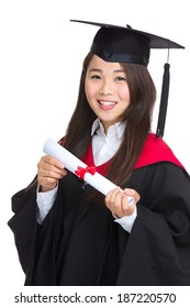 Young graduate girl student