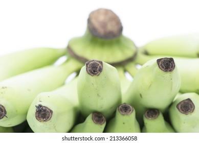Young green banana.