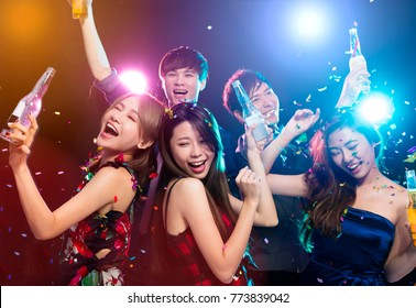 young group Enjoying party and having fun