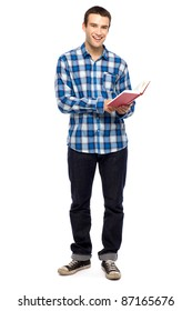 Young guy holding book
