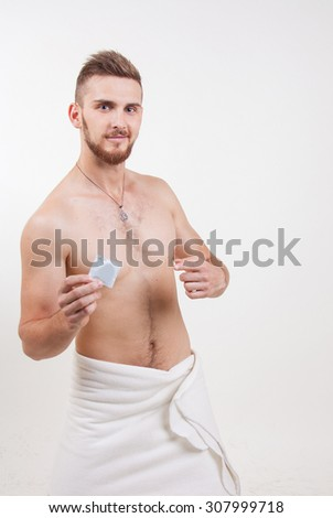 Condom on a naked man 9