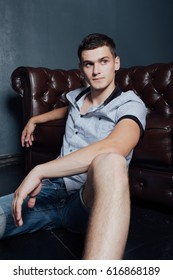 young guy sitting on the couch