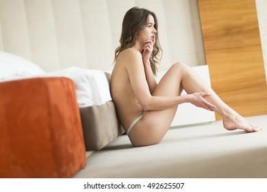 Skinny young naked latina self shot
