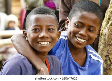 Young handsome malagasy boys smiling