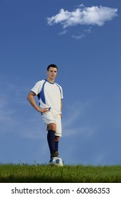 Young handsome male soccer player