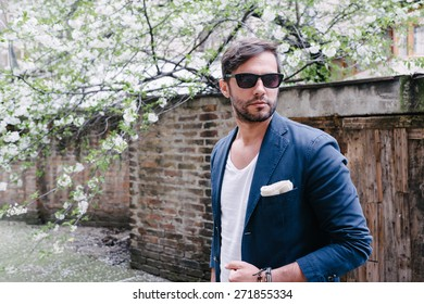 Young handsome man in casual style clothing