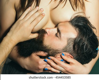 Sucking womans breast