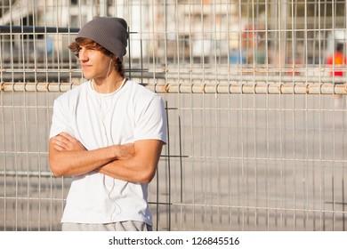 young handsome man portrait