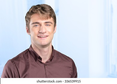 Young  handsome man smiling