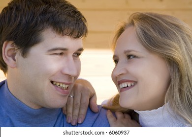 Young happy attractive couple  2